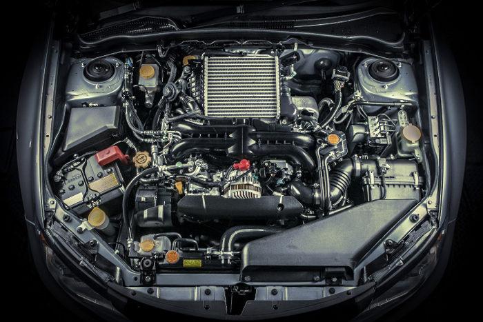 Parte del coche con el motor