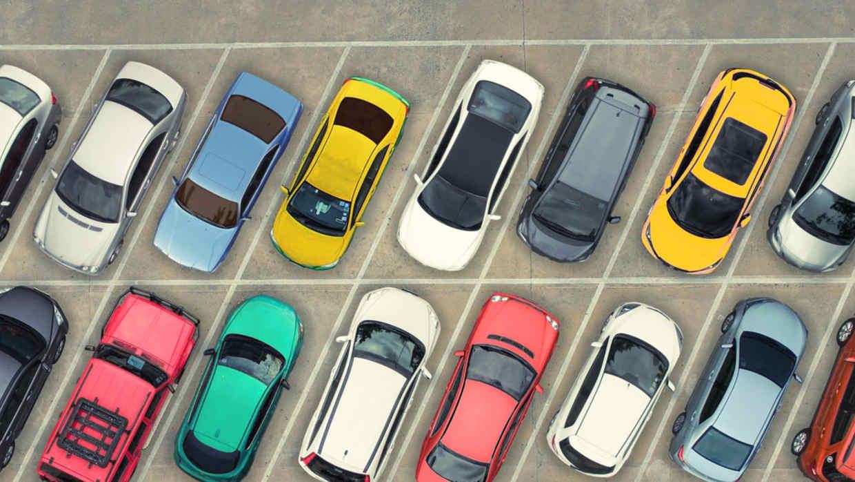 Tipo de aparcamiento en oblicuo